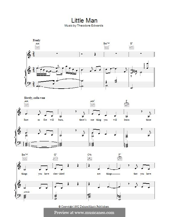 Little Man: For voice and piano (or guitar) by Theodore Edwards