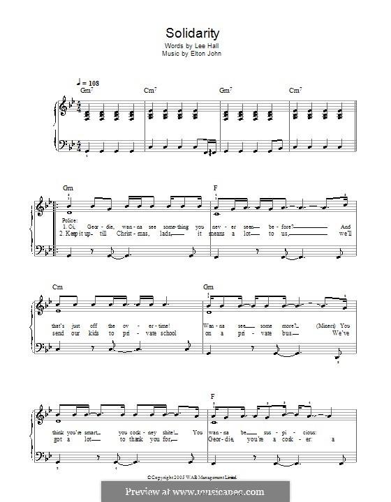 Solidarity: For easy piano by Elton John