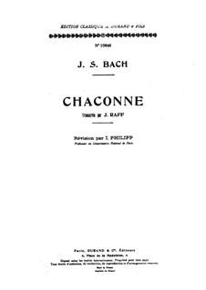 Partita for Violin No.2 in D Minor, BWV 1004: For a single performer by Johann Sebastian Bach