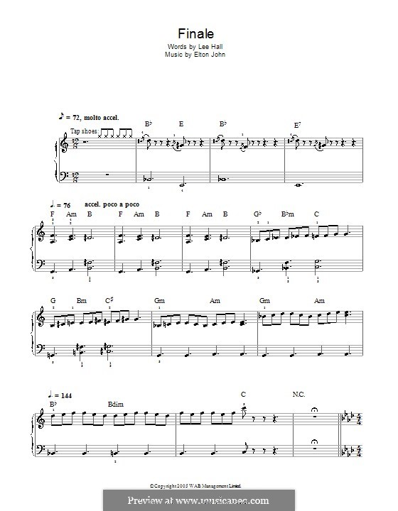 Finale: For easy piano by Elton John