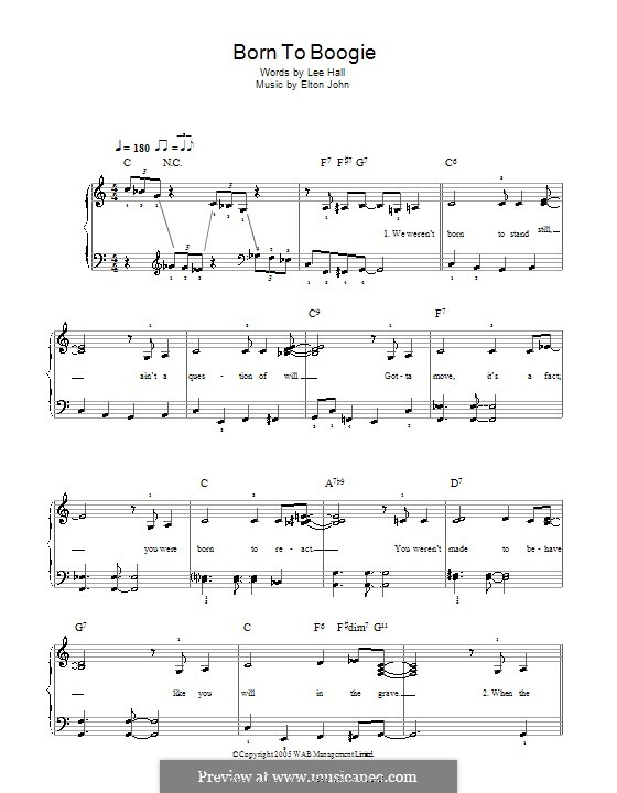 Born to Boogie: For easy piano by Elton John