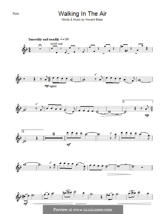 Walking in the Air: For flute by Howard Blake