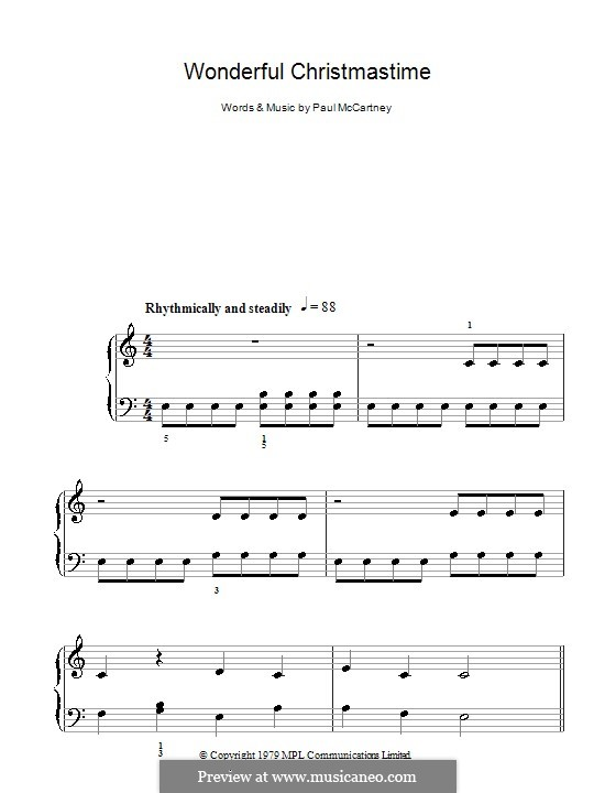Wonderful Christmastime: For easy piano by Paul McCartney
