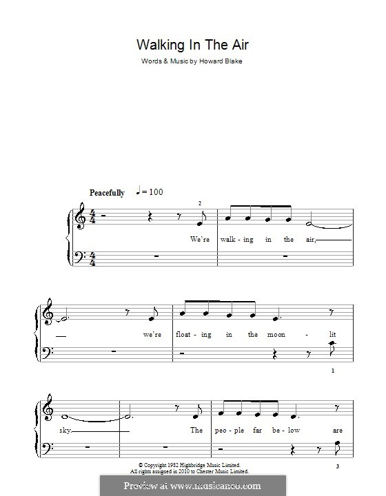 Walking in the Air: For easy piano by Howard Blake