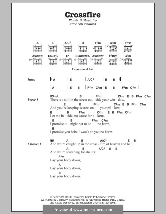 Crossfire by B. Flowers - sheet music on MusicaNeo