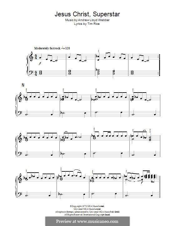 Superstar: For easy piano (C Major) by Andrew Lloyd Webber