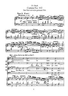Der Herr ist mein getreuer Hirt, BWV 112: Arrangement for voices and piano by Johann Sebastian Bach