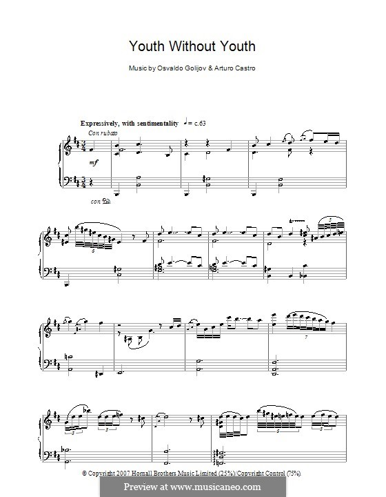 Youth without Youth (Youth without Youth): For piano by Arturo Castro, Osvaldo Golijov