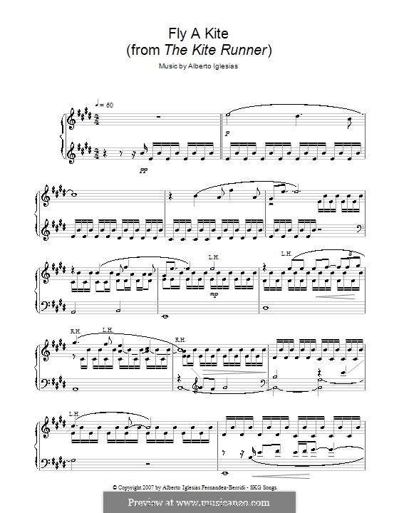 Fly A Kite From The Runner For Piano By Alberto Iglesias: Fly Kite Sheet Music At Alzheimers-prions.com