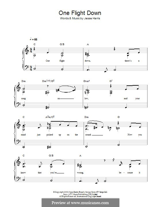 One Flight Down For Easy Piano By Jesse Harris: One Flight Down Trumpet Sheet Music At Alzheimers-prions.com