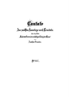 Lobe den Herren, den mächtigen König der Ehren, BWV 137: Full score by Johann Sebastian Bach