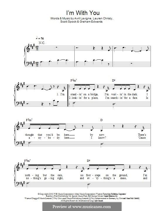I'm with You: For easy piano by Avril Lavigne, Graham Edwards, Lauren Christy, Scott Spock