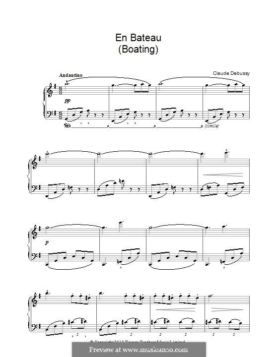 Petite suite, L.65: No.1 En Bateau by Claude Debussy