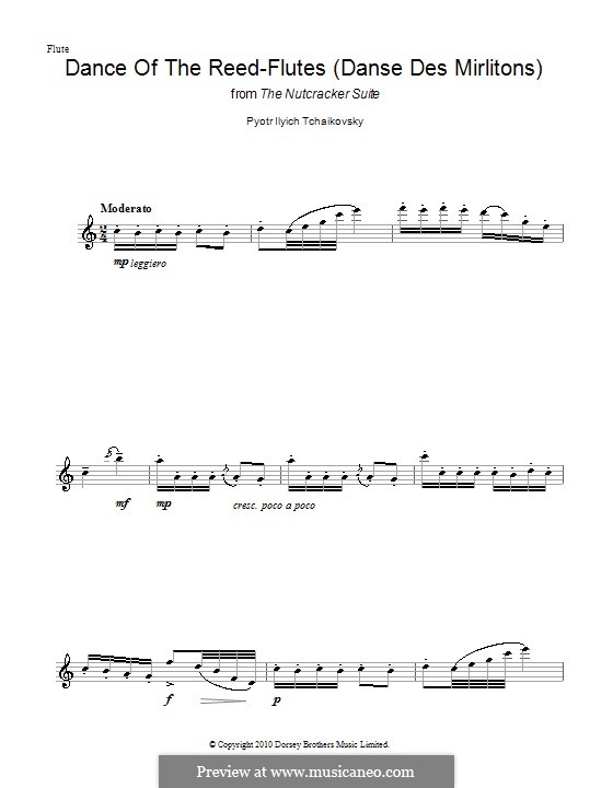 No.7 Dance of the Mirlitons: For flute by Pyotr Tchaikovsky