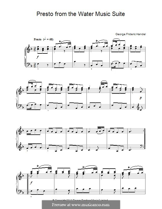 Suite No.1 in F Major, HWV 348: Minuet, for piano by Georg Friedrich Händel