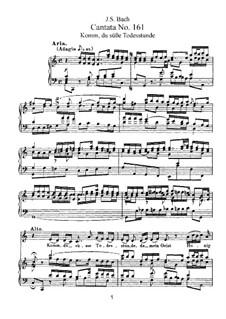 Komm, du süsse Todesstunde, BWV 161: Piano-vocal score by Johann Sebastian Bach