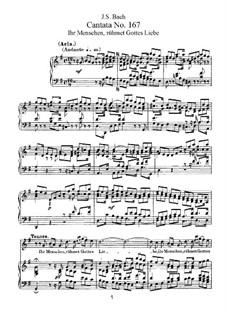 Ihr Menschen, rühmet Gottes Liebe, BWV 167: Piano-vocal score by Johann Sebastian Bach