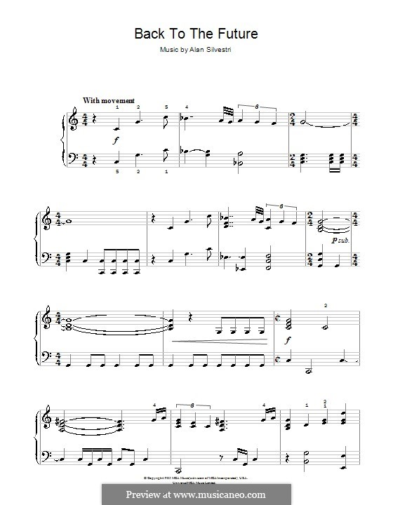 Back to the Future (Theme): For easy piano by Alan Silvestri