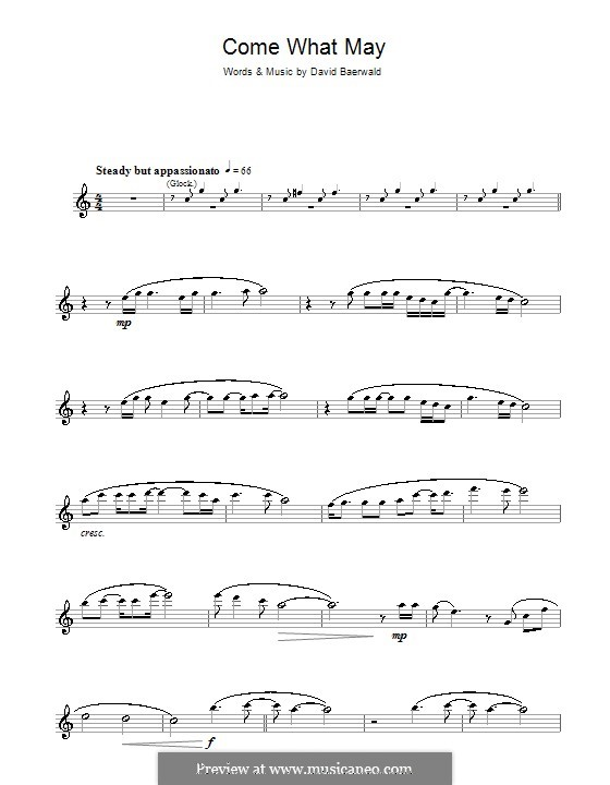 Come What May (from Moulin Rouge): For flute by David Baerwald