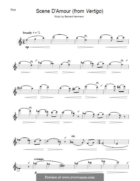 Scene d'Amour (from Vertigo): For flute by Bernard Herrmann