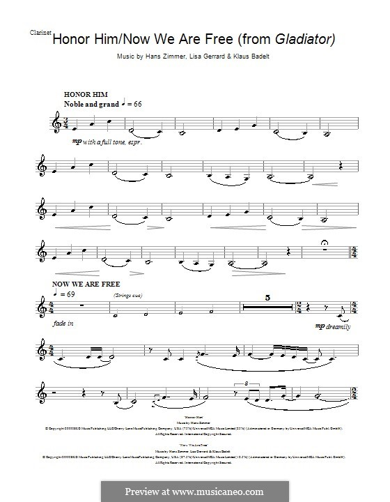 photo relating to Free Printable Clarinet Sheet Music named For clarinet
