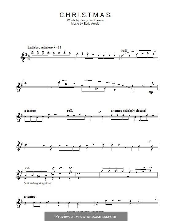 C-H-R-I-S-T-M-A-S (Perry Como): For alto saxophone by Eddy Arnold