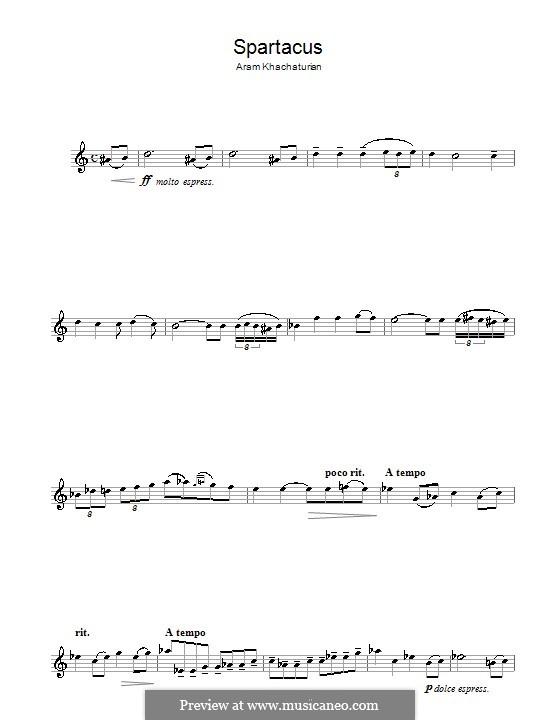 Spartacus: Love theme for saxophone by Aram Khachaturian