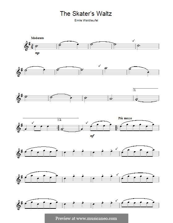 The Skaters Waltz: For alto saxophone by Émile Waldteufel