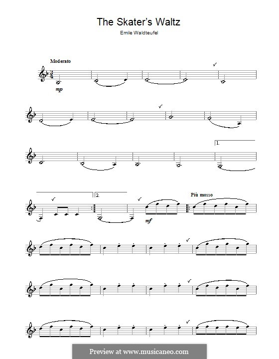 The Skaters Waltz: For clarinet by Émile Waldteufel