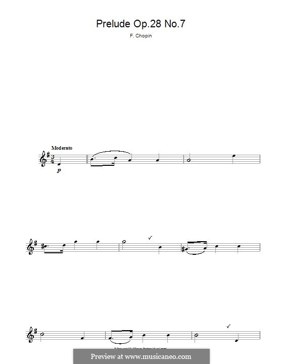 No.7 in A Major: For alto saxophone by Frédéric Chopin