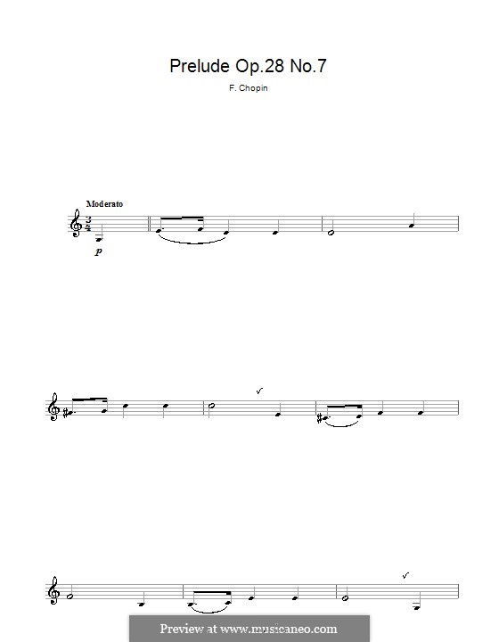 No.7 in A Major: For clarinet by Frédéric Chopin
