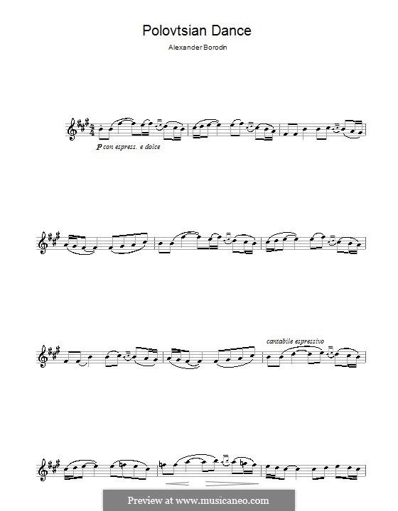 Polovtsian Dances: For flute by Alexander Borodin