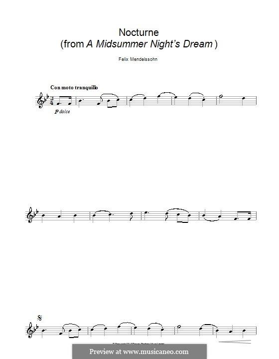 Nocturne: For saxophone by Felix Mendelssohn-Bartholdy