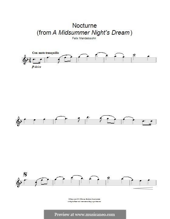 Nocturne: For flute by Felix Mendelssohn-Bartholdy