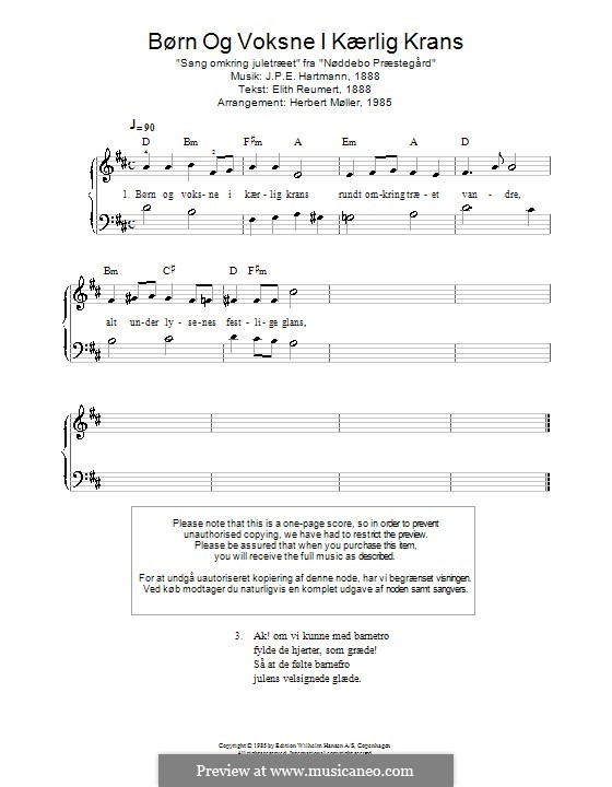 Børn Og Voksne I Kærlig Krans: For piano by Johan Peter Emilius Hartmann