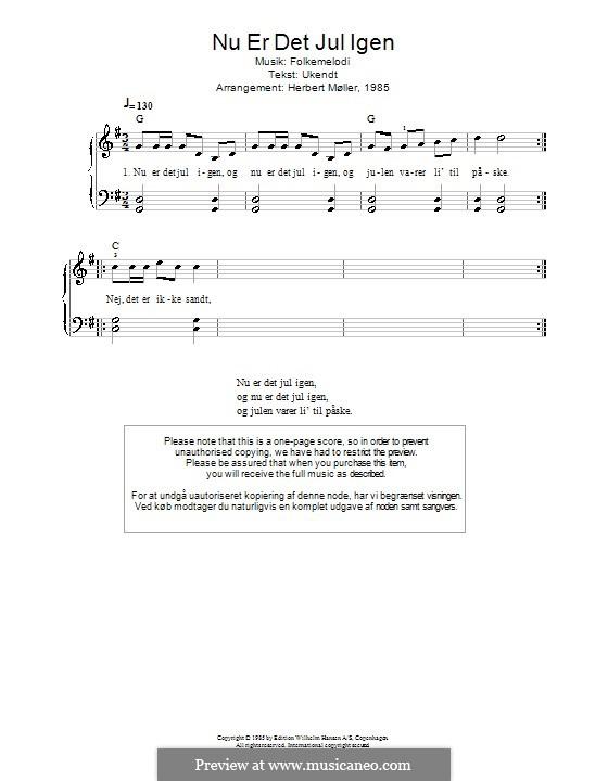 Nu ar det Jul igen: For piano by folklore