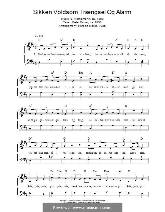 Sikken Voldsom Trængsel Og Alarm: For piano by Emil Horneman