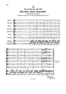 Ich habe meine Zuversicht, BWV 188: Alternate variant of one page by Johann Sebastian Bach