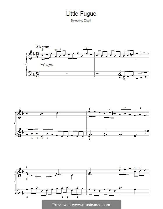 Little Fugue: For piano by Domenico Zipoli