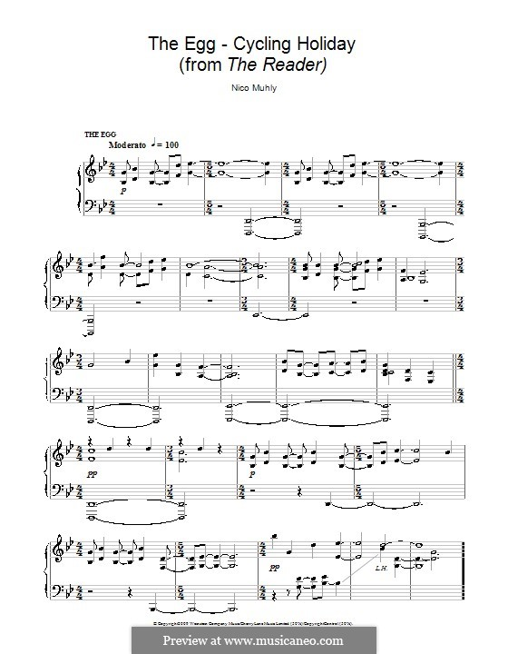 The Egg - Cycling Holiday (from The Reader): For piano by Nico Muhly