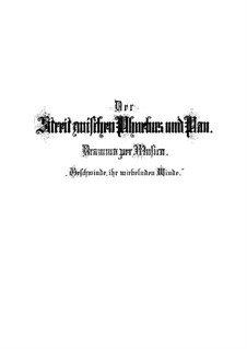Der Streit zwischen Phoebus und Pan (The Contest Between Phoebus and Pan), BWV 201: Der Streit zwischen Phoebus und Pan' (The Contest Between Phoebus and Pan) by Johann Sebastian Bach