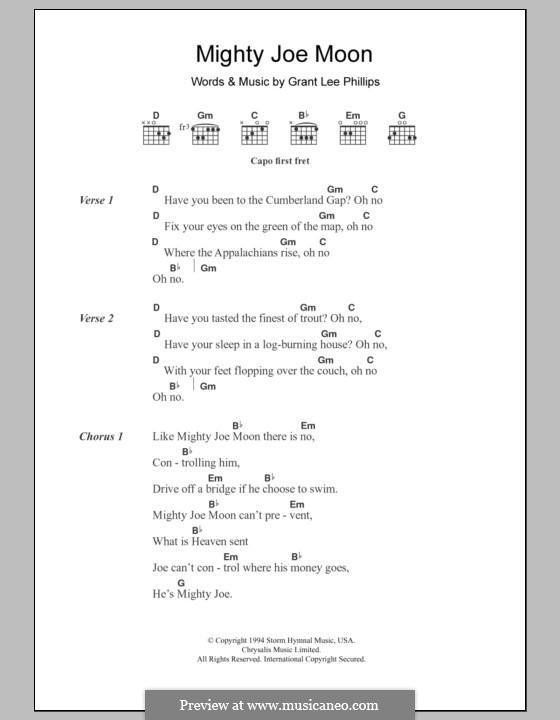 Mighty Joe Moon (Grant Lee Buffalo): Lyrics and chords by Grant Lee Phillips
