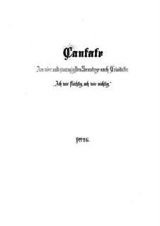 Ach wie flüchtig, ach wie nichtig (Ah How Fleeting, ah How Insubstantial), BWV 26: Full score by Johann Sebastian Bach