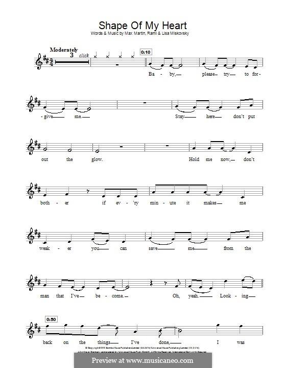 Shape of My Heart (Backstreet Boys): For flute by Lisa Miskovsky, Max Martin, Rami Yacoub