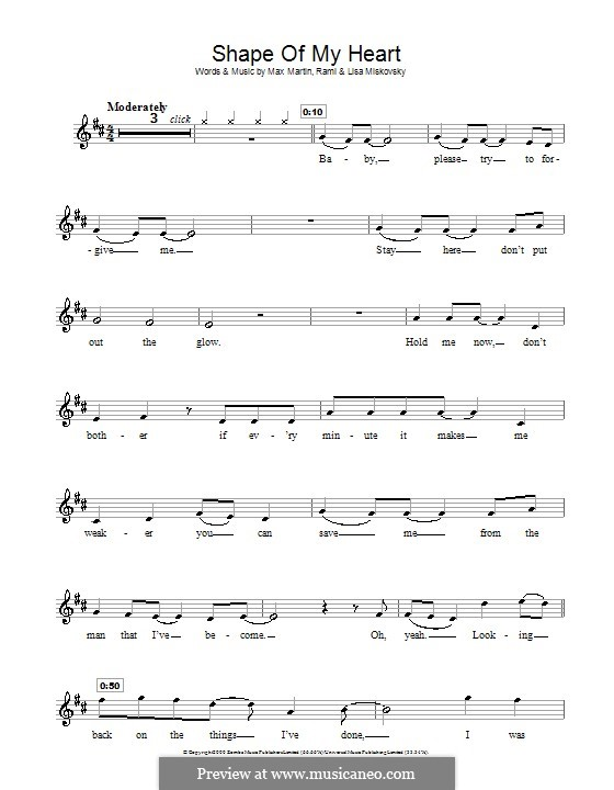 Shape of My Heart (Backstreet Boys): For recorder by Lisa Miskovsky, Max Martin, Rami Yacoub