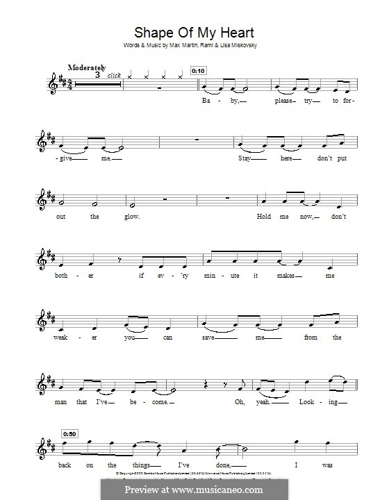 Shape of My Heart (Backstreet Boys): For violin by Lisa Miskovsky, Max Martin, Rami Yacoub