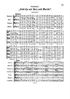 Lobt ihn mit Herz und Munde, BWV 220: Lobt ihn mit Herz und Munde by Johann Sebastian Bach