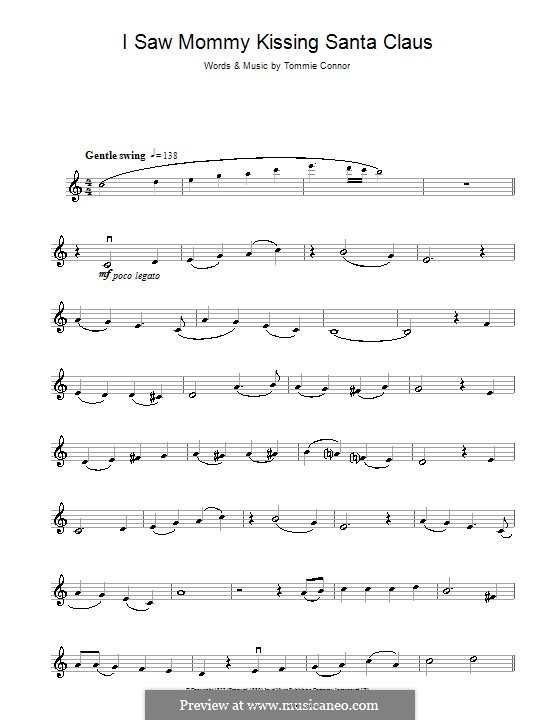 I Saw Mommy Kissing Santa Claus: For violin by Tommie Connor