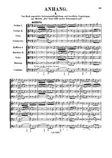 Der Geist hilft unsrer Schwachheit auf, BWV 226: Supplement by Johann Sebastian Bach