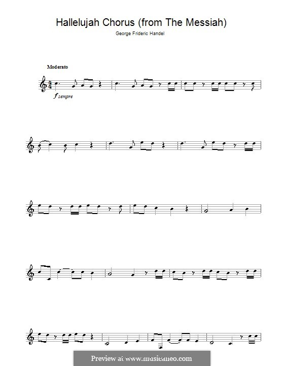 No.44 Hallelujah: For clarinet by Georg Friedrich Händel